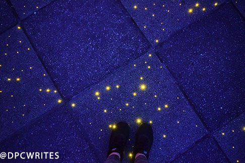 Fiber Optic Concrete Stars In The Sidewalk
