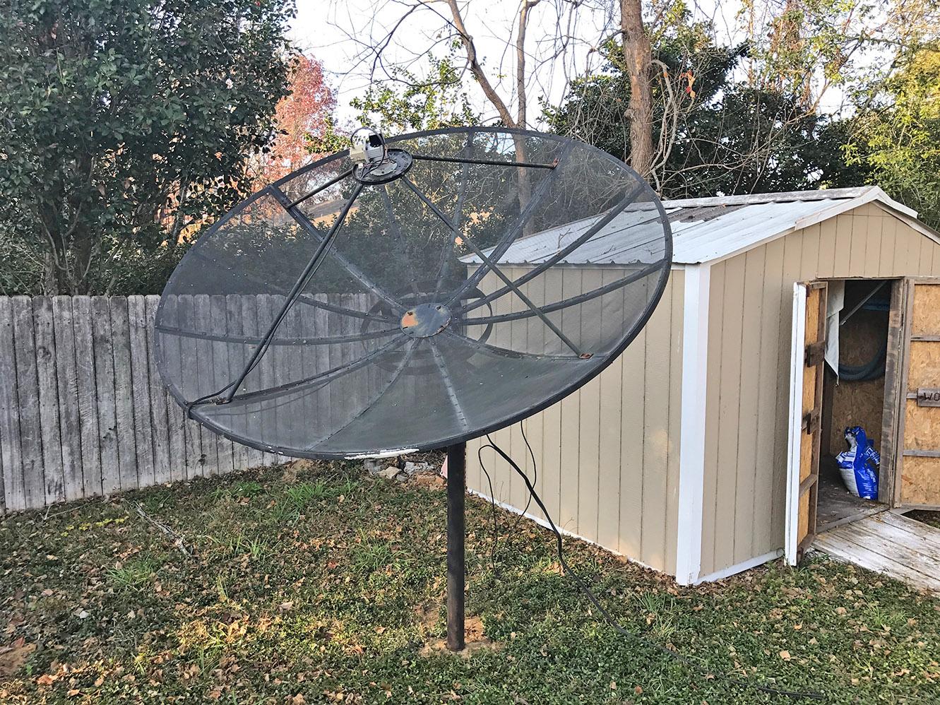 C-Band : Mounting A BUD (7.5′ Satellite Dish)