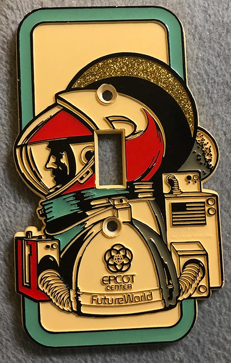 photo of Epcot Space man light switch