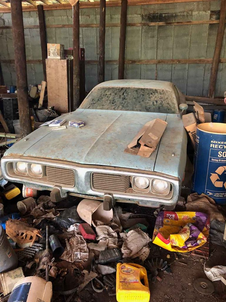 1974 Dodge Charger Barn Find, front perspective.